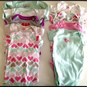 🍒9 CARTERS BODYSUITS 🍒